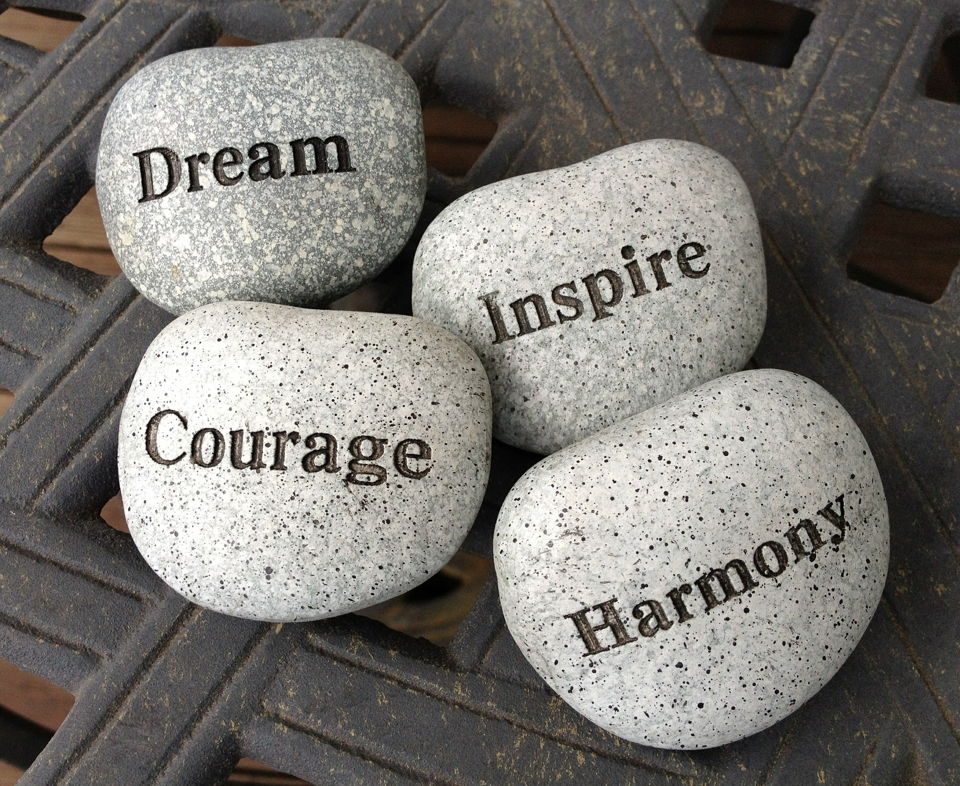Stress_free_means_fram_courage_inspire_harmony_stones_picture